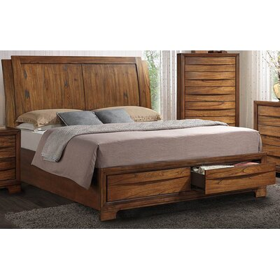 Russet Queen Storage Sleigh Bed