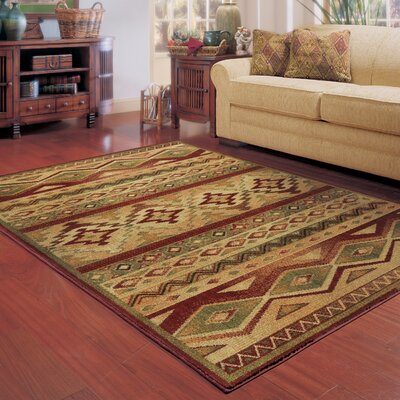 Oakfield Brown/Red Area Rug Rug Size: Rectangle 110 x 33