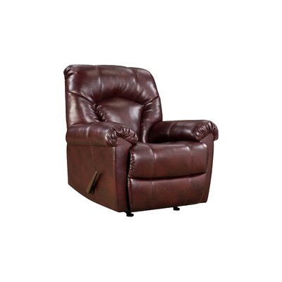 Granby Rocker Recliner by Simmons Upholstery Type: Manual, Upholstery: Wine