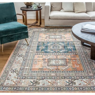 Ovid Orange Area Rug Rug Size: 53 x 76