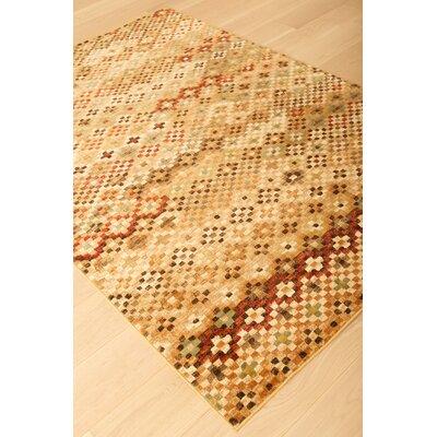 Ovid Brown/Beige Area Rug Rug Size: 79 x 108
