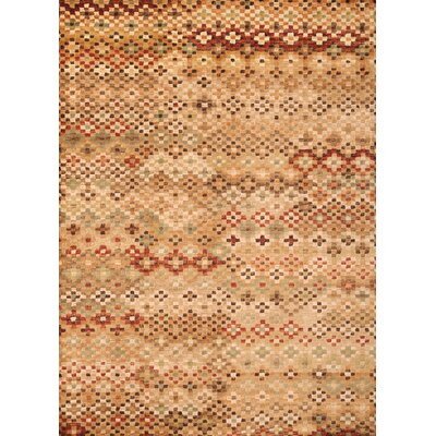 Ovid Brown/Beige Area Rug Rug Size: Rectangle 53 x 76