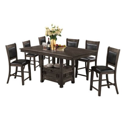 Dor 7 Piece Dining Set Finish: Gray