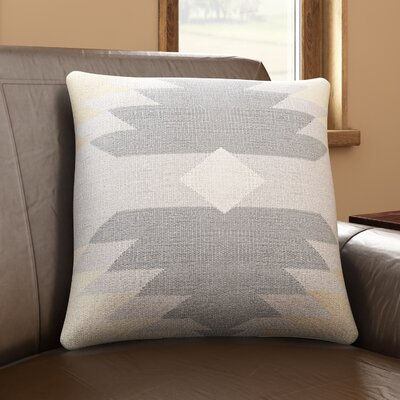 Westall 100% Cotton Throw Pillow Cover Size: 22 H x 22 W x 0.25 D, Color: Gray