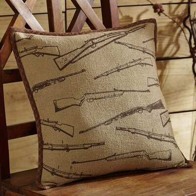 Brodick Rifle 100% Cotton Throw Pillow