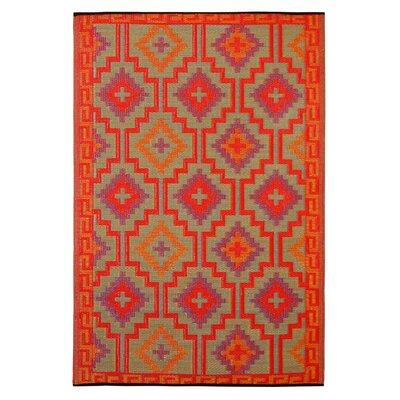 Patterson Reversible Red Indoor/Outdoor Area Rug Rug Size: 5 x 8