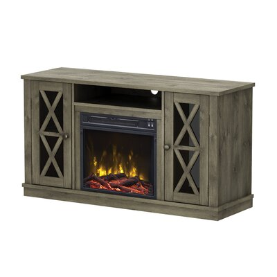 Fritz TV Stand with Electric Fireplace