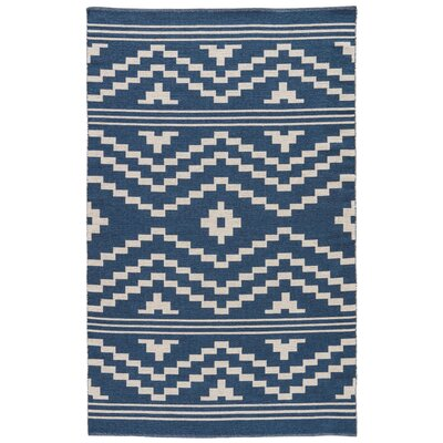Camarillo Hand-Woven Blue/Ivory Area Rug Rug Size: 5 x 8