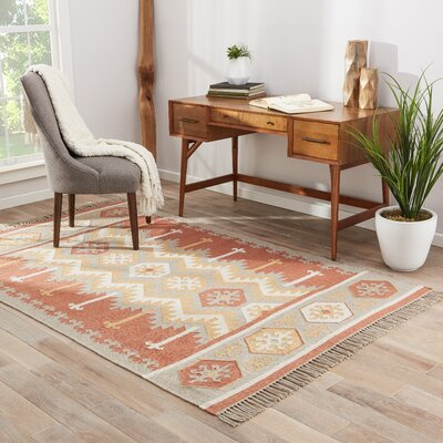 Boquillas Ash/Auburn Indoor/Outdoor Area Rug Rug Size: 2 x 3