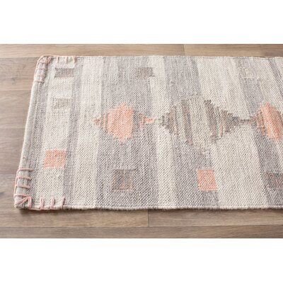 Cahone Light Gray/Dusty Coral Area Rug Rug Size: 2 x 3