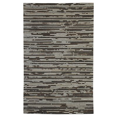 Auckland Hand-Woven Dark Brown Area Rug Rug Size: 5 x 8