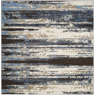 San Jacinto Cream/Blue Area Rug Rug Size: Square 6