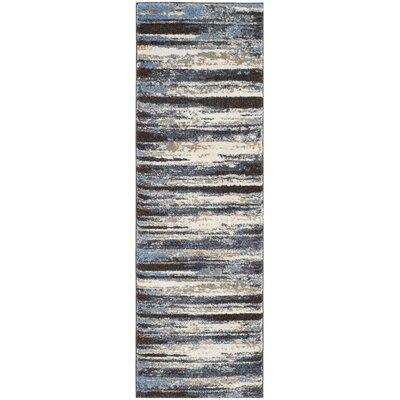 San Jacinto Cream/Blue Area Rug Rug Size: Runner 23 x 11