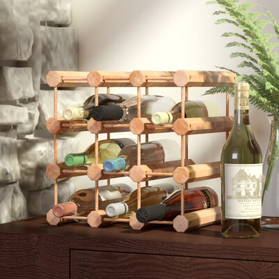 Kitterman 12 Bottle Floor Wine Rack Finish: Natural
