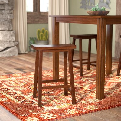 Jefferson 24 inch Bar Stool Finish: Walnut
