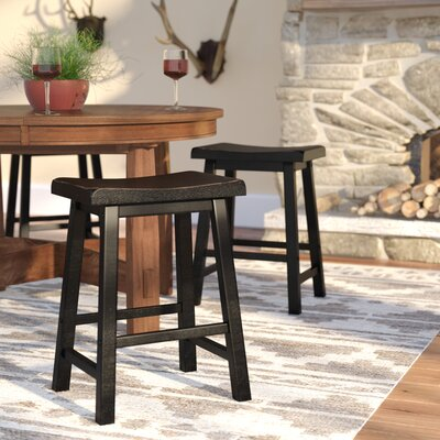 24 inch Bar Stool Upholstery: Antique Black