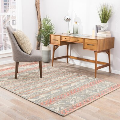 Calimesa Wool Hand Tufted Gray Area Rug Rug Size: 5 x 8
