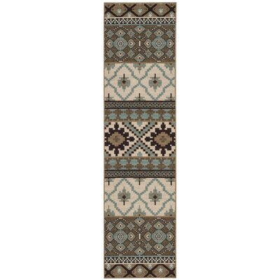 Rangely Brown/Beige Indoor/Outdoor Area Rug Rug Size: Rectangle 27 x 5