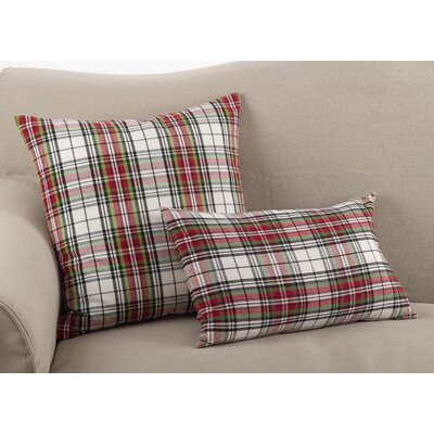 Alondra Classic Tartan Plaid Print Cotton Lumbar Pillow