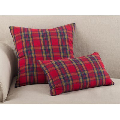 Alvaro Classic Tartan Plaid Print Holiday Cotton Lumbar Pillow