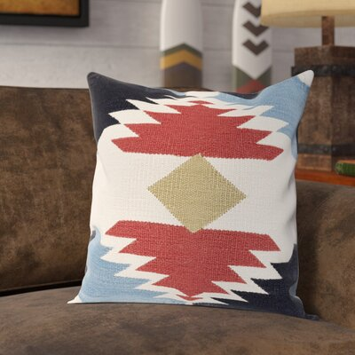 Clinard 100% Cotton Throw Pillow Cover Size: 18 H x 18 W x 0.25 D, Color: RedBlack