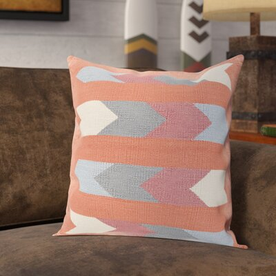 Westall 100% Cotton Throw Pillow Cover Size: 22 H x 22 W x 0.25 D, Color: OrangeRed