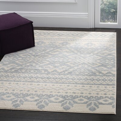 Cavileer Ivory/Slate Area Rug Rug Size: Rectangle 9 x 12