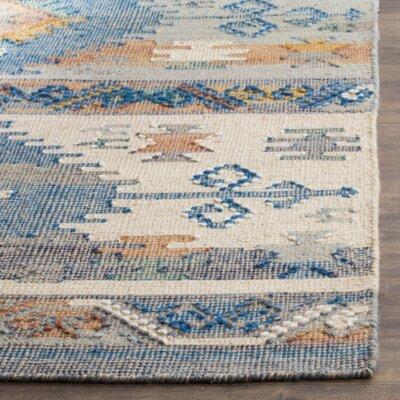 Elan Hand-Woven Blue Area Rug Rug Size: 5 x 8