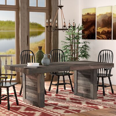 Needham Dining Table Color: Charcoal