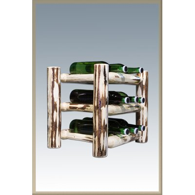 Abordale 9 Bottle Tabletop Wine Rack Finish: Ready To Finish