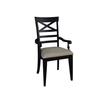 Methuen Arm Chair (Set of 2) Arm Chair Finish: Black