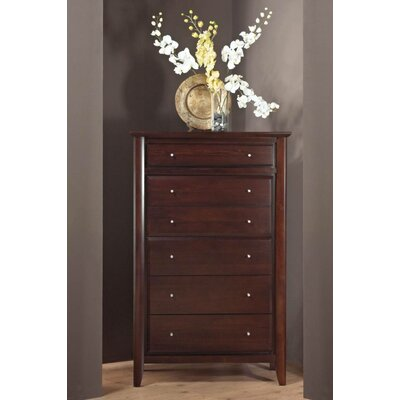 Pittsburg 6 Drawer Chest Color: CoCo