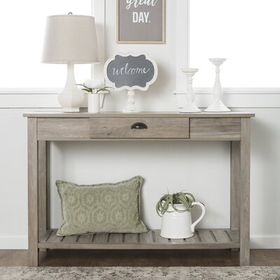 Burford Entry Console Table Finish: Gray Wash