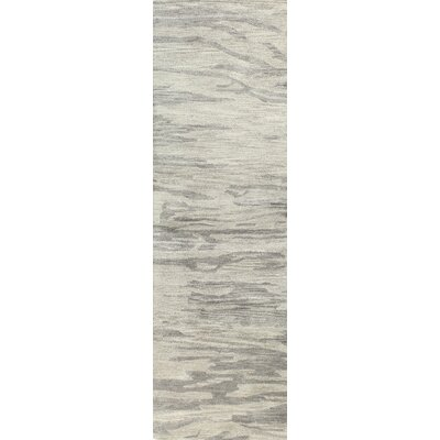 Hermosa Handmade Wool Grey Area Rug Rug Size: Runner 26 x 8
