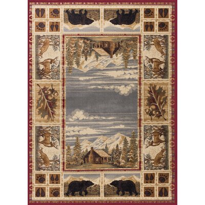 Badlands Red/Beige Area Rug Rug Size: Rectangle 5 x 8