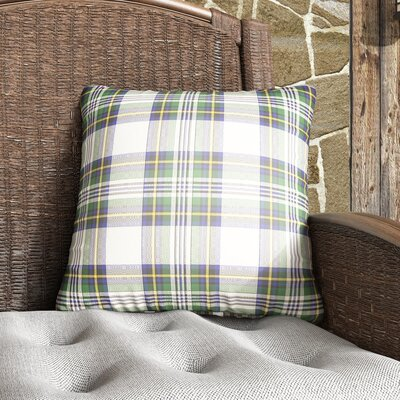 Elizabeth Indoor Outdoor Throw Pillow Size: 18 H x 18 W x 4 D, Color: Green/Neutral/Yellow/Blue
