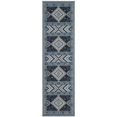 Antelope Blue Area Rug Rug Size: Runner 23 x 8