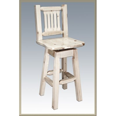 Abella 30 Rustic Swivel Bar Stool Finish: Ready to Finish