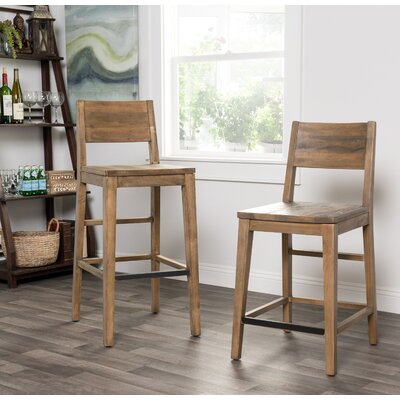 Needham 30 Bar Stool Color: Hand Distressed Natural