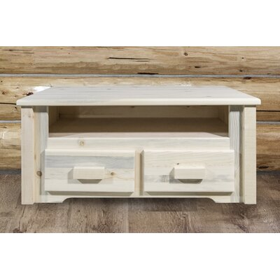 Abella Rustic Coffee Table Color: Unfinished