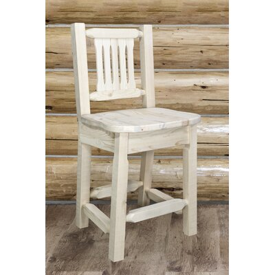 Abordale 30 Rustic Bar Stool Finish: Clear Lacquer Finish