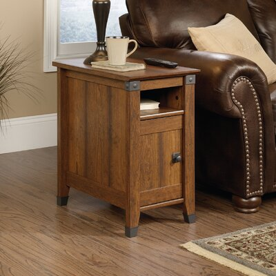 Newdale End Table With Storage Color: Washington Cherry