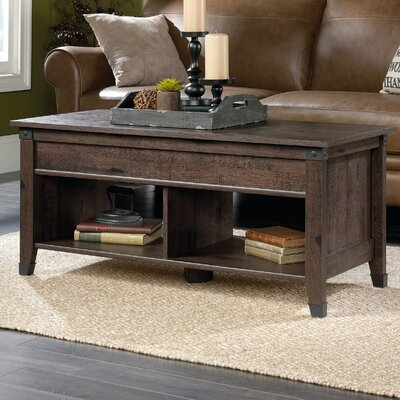 Newdale Lift Top Coffee Table Color: Coffee Oak