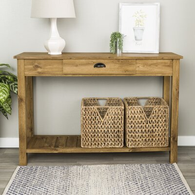 Burford Entry Console Table Finish: Barnwood