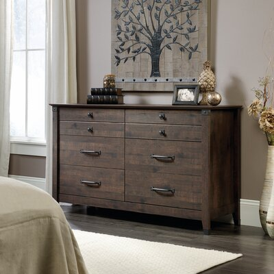Newdale 6 Drawer Dresser Color: Coffee Oak