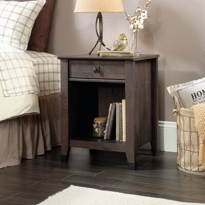 Newdale 1 Drawer Nightstand Finish: Coffee Oak