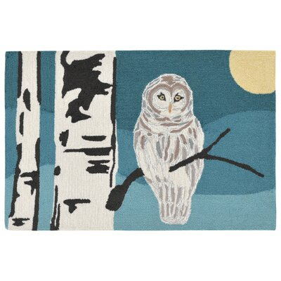 Folsom Hand-Tufted Blue Indoor/Outdoor Area Rug Rug Size: 18 x 26