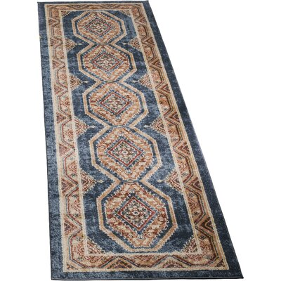 Isanotski Red/Blue Area Rug Rug Size: Runner 23 x 12