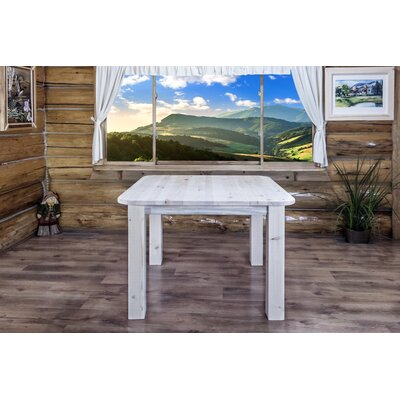 Abella Dining Table Finish: Ready To Finish, Size: 30 H x 45 W x 45 D
