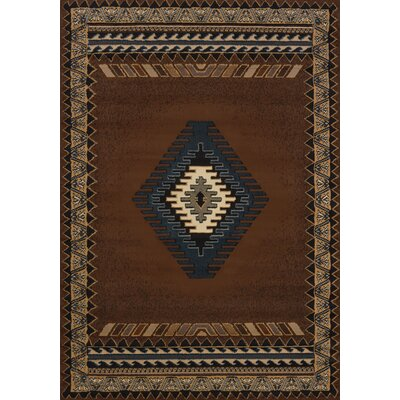 Hyacinthe Tucson Brown Area Rug Rug Size: 710 x 106